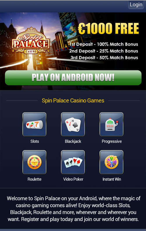 Spin palace app casino Portugal 181318