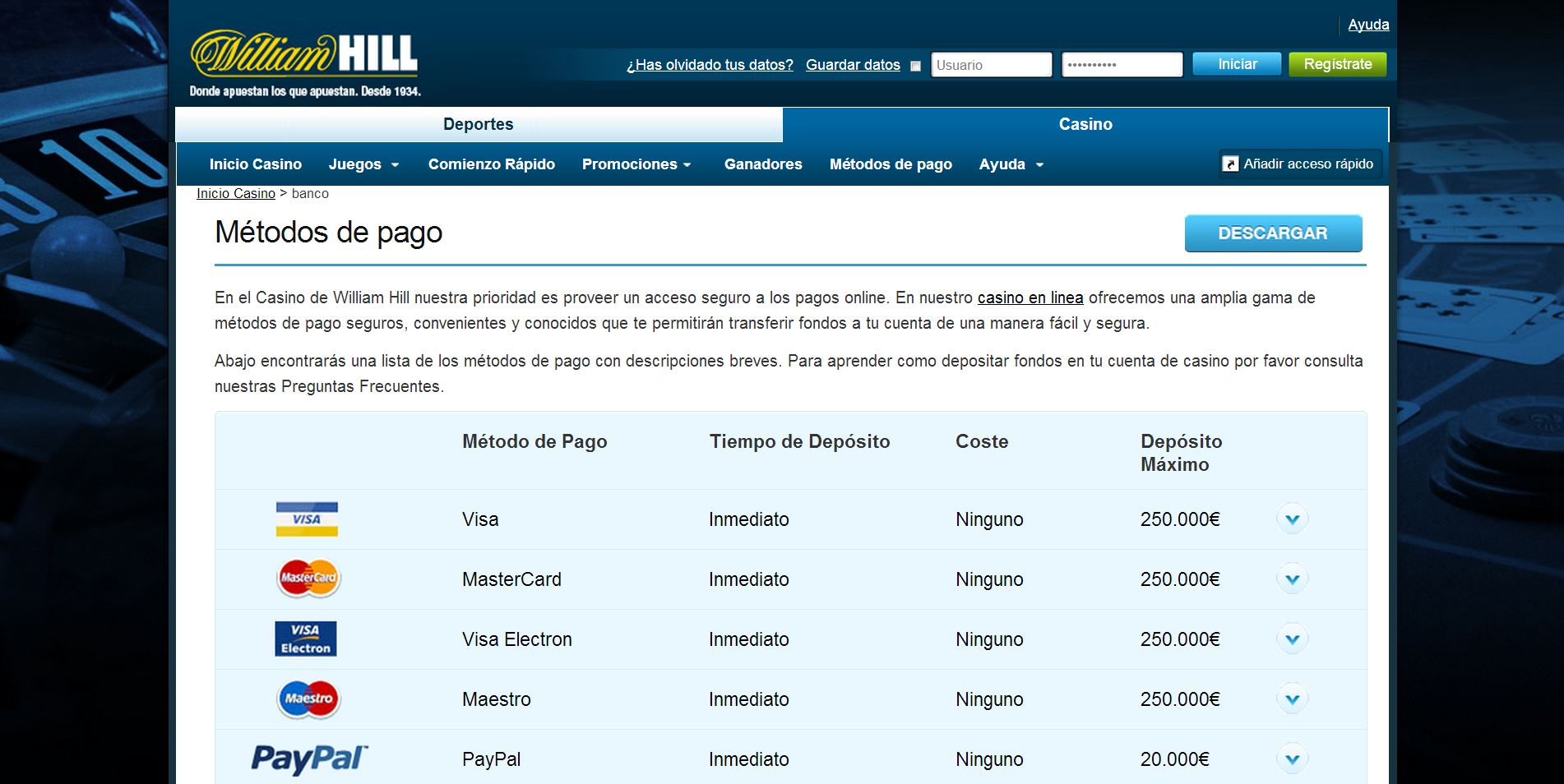 Casino william hill gratis tiradas Endorphina 465055