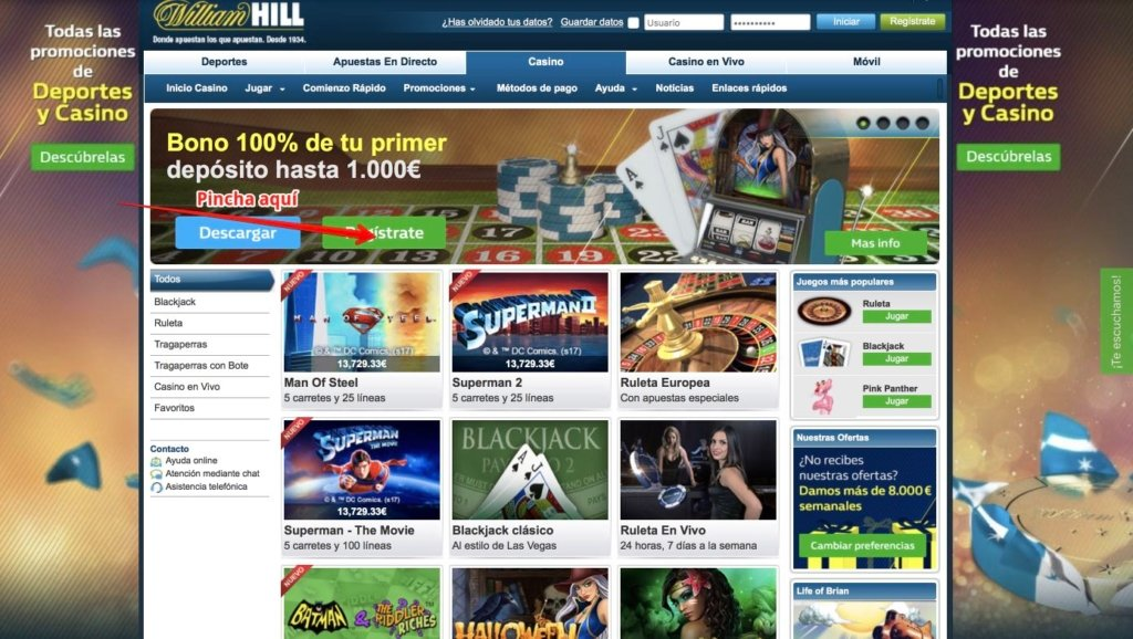 William s hill casino online Guatemala opiniones 508239