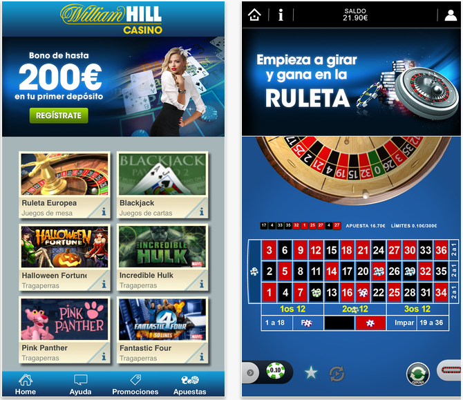 Codigo bono william hill sin deposito casino online Colombia 568765